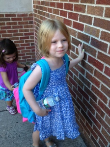 First day of Kindergarten GigiI - Sept 4, 2014